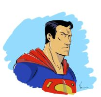 Superman color sketch by NJValente