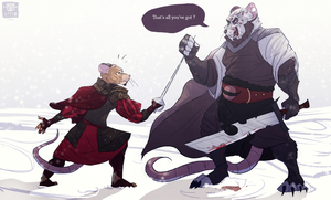 Mice fight by VetroW
