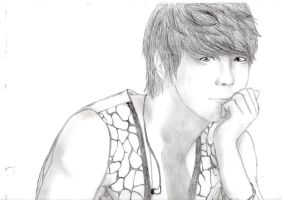 Donghae sketch by PuppetMasteroftheSea