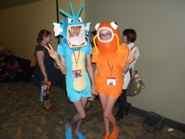 Otakon 2013 - Gyrados and Magikarp by mugiwaraJM