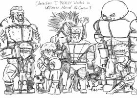 Characters I Wished to See in Marvel VS Capcom 3 by theINAshow