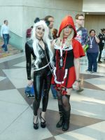 Black Cat and Red Riding Hood by nx20