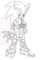 Sonic's new look in Poker Face 2 by sonicartist16