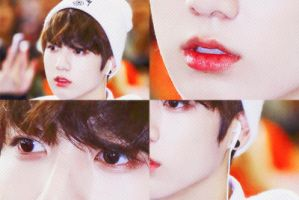 PSD1 White skin Red lips Model is Jungkook BTS by DDH-Sumi23