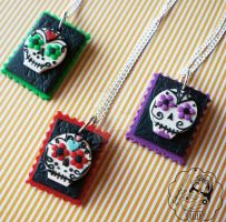 Sugar Skull Trio by colourful-blossom