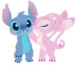 Angel and Stitch by Decapitated-Kittens
