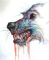 colored pencil wolf by uvbnnatattacked