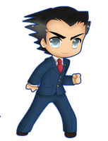 .:ace attorney:. Chibi Phoenix by isabelthehedgehog11