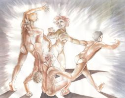 Five Twisted Nudes by Chelsee