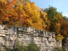 Autumn Cliff Stock Scenery 11 by FantasyStock