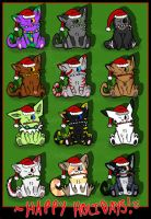 Holiday Chibis by Dragowl