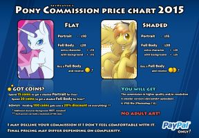 Pony Commission Price Chart 2015 by SkyHeavens