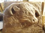 Herefordcow in progress1 by woodcarve