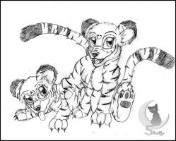 .: Tiger Cubs :. by LadyShelleBelle