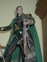 Loki with his little pet by Catskind
