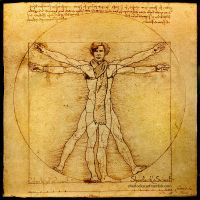 Vitruvian Sherlock - with scarf, of course! by SherlocksScarf