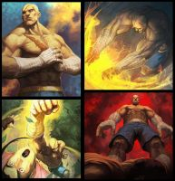 Sagat Cards by nJoo