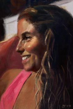 Portrait of my Sister for a birthday gift by gregoo23
