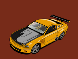 Mustang GTR vector wallpaper by FrenetikFred