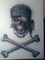 Skull and cross bones by ATA2008