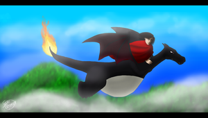 POKEMON OC - Flying Away by ForeverSonu