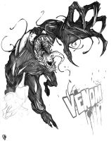 Venom Sketch by JohnphillipPerez