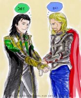 Loki and Thor - Oh Brother by Lil-Chilo