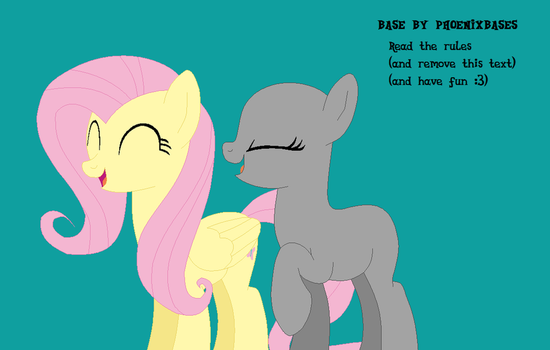 MLP Base: OC x Fluttershy by KIngBases