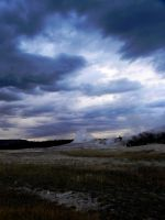 Storm Over Old Faithful by fe208