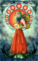 Butterfly Queen Nouveau by Ariana-Blossom