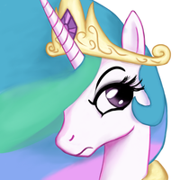 Celestia emote: Not pleased by Tunskaa