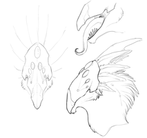 Yabira Sketches by BlueJay-Cat