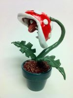 Piranha Plant Figurine by LaggyCreations