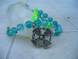 Turquoise and Lime Rosary by zephyrofgod