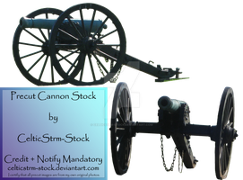Precut Civil War Cannon by CelticStrm-Stock by CelticStrm-Stock