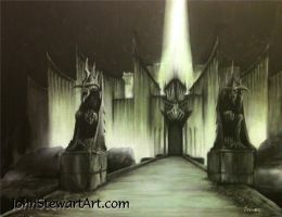 Lord Of The Rings Minas Morgul Original Painting by johnstewartart
