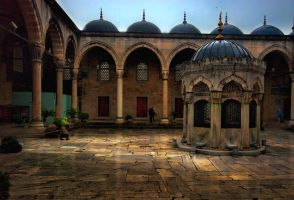 mosque yard by 1poz