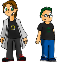 Me and Green Skull by MysticM