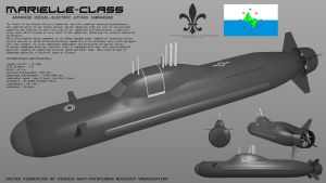 Marielle Class Submarine by Stealthflanker