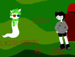 WHO WILL WIN? ERISOLSPRITE VS JAKE by Cheezit1x1