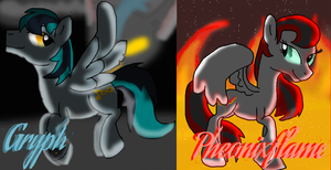 Gryph and Pheonixflame by Darkpaw-Lights