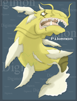 another digimon: Pikemon by G-manluver