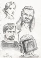Star Wars sketches 01 by GraphiteFalcon