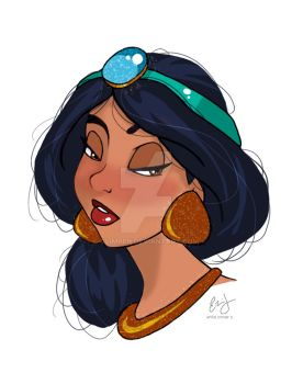 Jasmine Doodle by glimpen