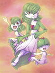 Gardevoir - Evolutionary Chain by Rosey-Mae