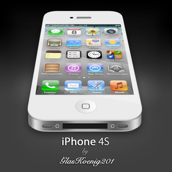 iPhone 4S White by GlasKoenig201
