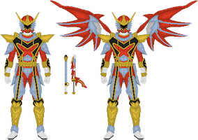 Power Rangers Mystic Force, Red Dragon Fire Ranger by Taiko554