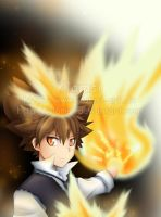 Tsuna is a fireangel... by Klamsi