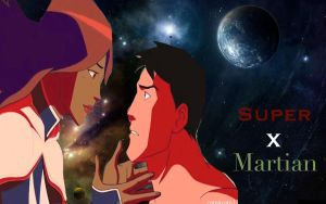 Superboy and Miss Martian by camacam11