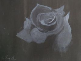 Gray Rose: First Time Painting Alone by Eclair1998